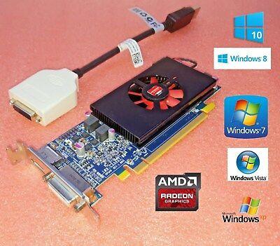 1GB DELL OPTIPLEX 390 990 3010 7010 9010 SFF Low Profile Half Height Video - Half Height Card