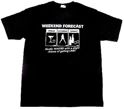Weekend Forecast T Shirt Drinking Funny Adult Humor Tee Adult S 3Xl Black New
