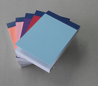 8 x PLAIN WHITE PAPER NOTE PAD WITH COVER A7 SIZE