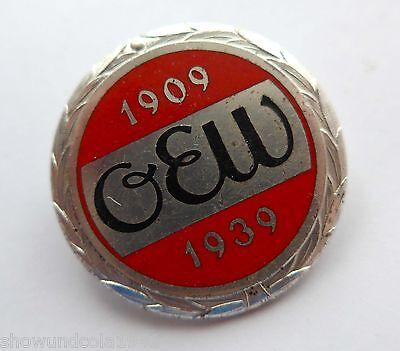 30 Jahre -OEW- Oberschwäbischen Elektrizitätswerke emailliert sehr interessant