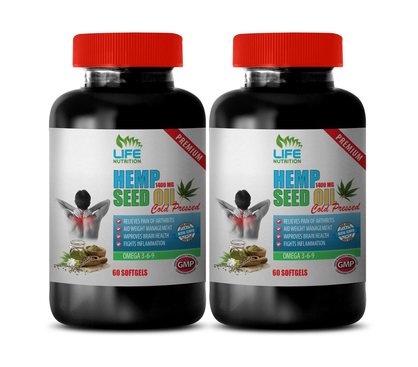 omega fatty acids, ORGANIC HEMP SEED OIL 1400mg, joint pain relief 2B