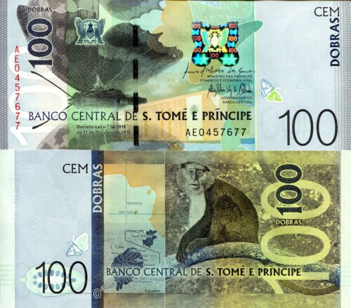 SAO TOME 100 Dobras Banknote World Paper Money Currency Pick p74 2018 St. Thomas
