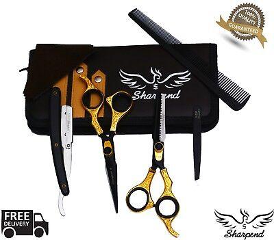 Barber Stainless Steel Best Mustache Beard Scissors Finger Rest Beard Trimming