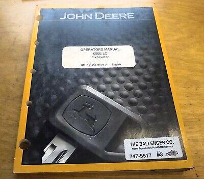 John Deere 690e Lc Excavator Operators Manual Jd -- Original Oem