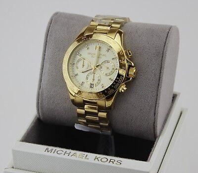 NEW AUTHENTIC MICHAEL KORS MID LAYTON GOLD CHRONOGRAPH WOMEN'S MK5531 WATCH
