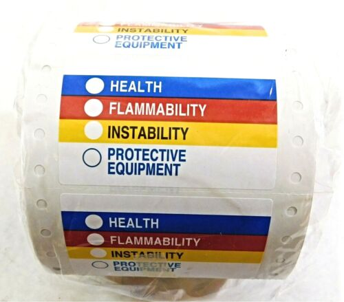 Brady Health Flammability Instability Protective Equipment Labels 60320 (500 Pc)