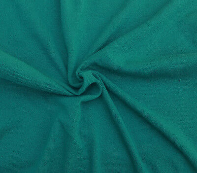 Light Teal Cotton Knit Fabric by the Yard Double Crepe Heavy Weight (Heavyweight Double Knit)