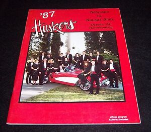 Nebraska-Huskers-vs-Kansas-State-Game-Program-Magazine-Vintage-Rare-1987