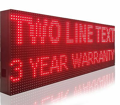 15x50 Outdoor Led Signs Red Scrolling Digital Bar Business Message Boards Open