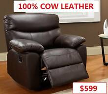 Toronto Recliner Chair, 100% genuine leather, NOW ONLY $599 Salisbury Brisbane South West Preview