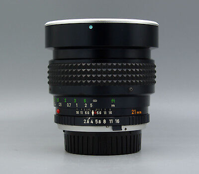 Minolta MC W ROKKOR NL 21mm f/2.8 MF Lens  ((Mint+++))