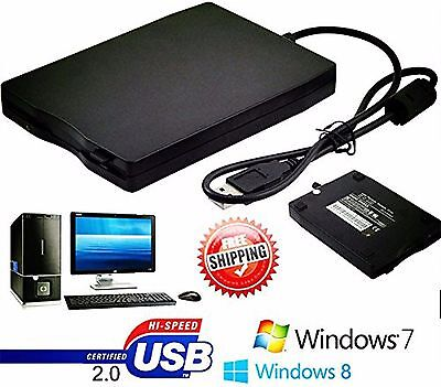 "3.5"" USB 2.0 1.44MB External Portable Floppy Disk Diskette Drive for Laptop OY"