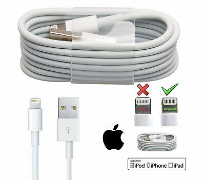 GENUINE OFFICIAL APPLE IPHONE 8/7/6S/6+/5S CHARGER SYNC LIGHTNING CABLE 1M 2M 3M