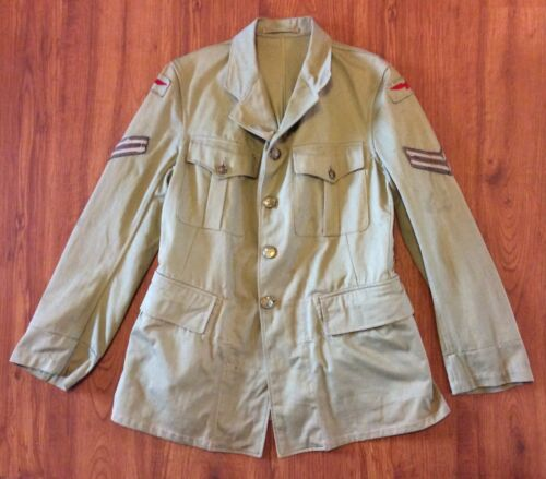 ORIGINAL WW2 CANADA RCAF TROPICAL SERVICE DRESS TUNIC CORPORAL JACKET 1942 KHAKI