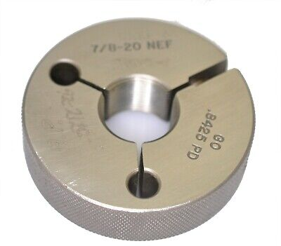 78- 20 Unef-3a Thread Ring Gage Go Only .875 20 Tpi Pipe Machinery