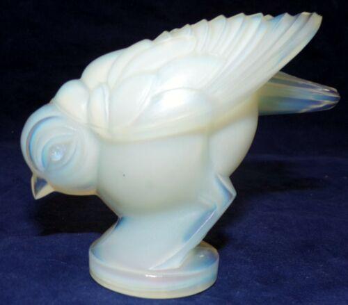 SABINO FRANCE SIGNED OPALESCENT ART GLASS HEAD DOWN BIRD PAPERWEIGHT FIGURINE