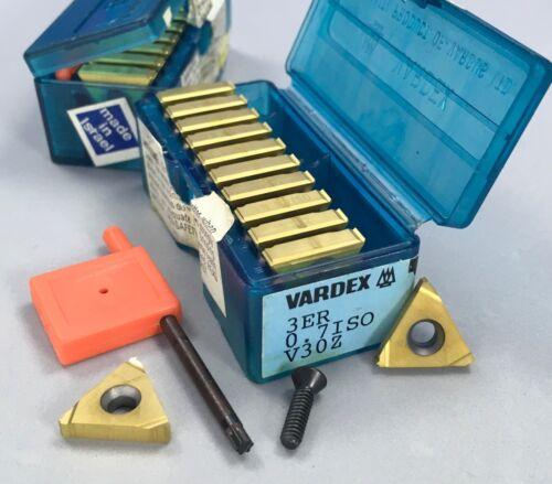 10 pcs  VARGUS  VARDEX  3ER  0.7 ISO Threading Inserts; grade V30Z 🎯 Machinist