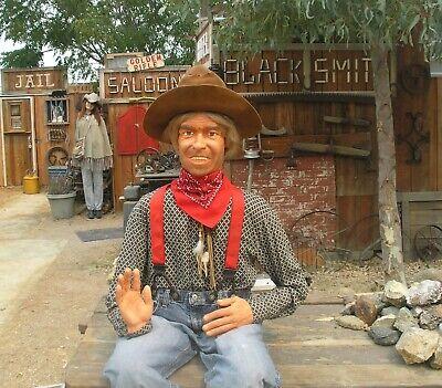 Cowboy Mannequin Handmade Folk Art Articulated Life Size Prop Dummy