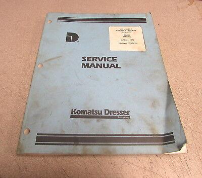 Komatsu Dresser 500 Series C Crawler Tractor Service Repair Manual Chassis 1976
