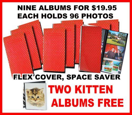 NINE Albums, 4x6 FLEX COVERS holds 96 photos  WHOLESALE LOT