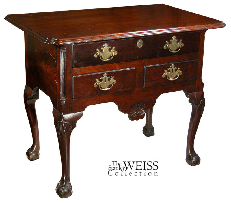 SWC-Carved Chippendale Lowboy, Philadelphia, PA, c.1740