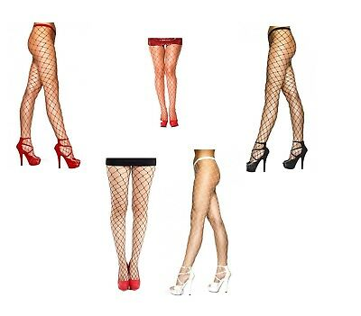 - Fishnet Tights Large Hole Fance Net Whalenet Tights in Black, Red White  -kp