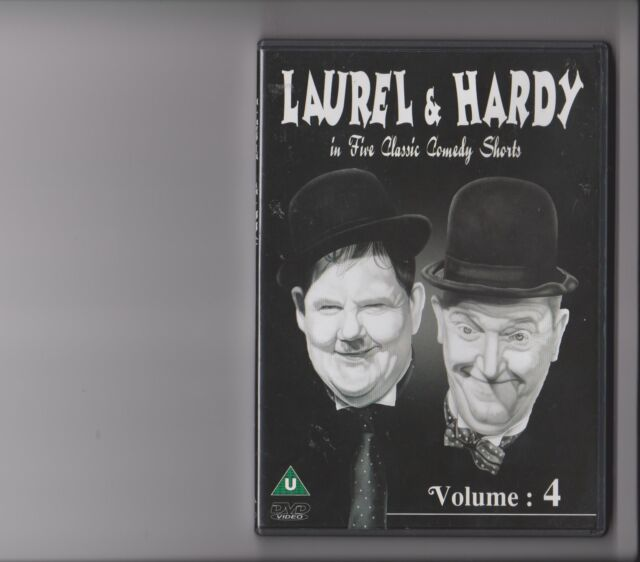 LAUREL AND HARDY VOLUME 4 DVD IN FIVE CLASSIC COMEDY SHORTS BLACK / WHITE RETRO