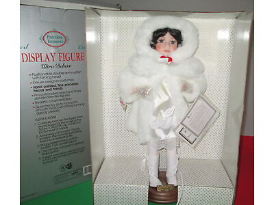 "Antiquated Animated Telco Original Motion-ette Christmas Porcelain  Doll 18"" Angel"