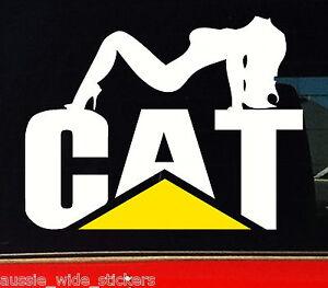 Sexy CAT CHICK Sticker Decal Caterpillar Car Ute Truck