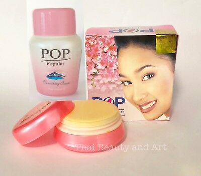 POP POPULAR+Vanishing Cream Skin Whitening Freckle Dark Spot Thai Smooth Facial  ()