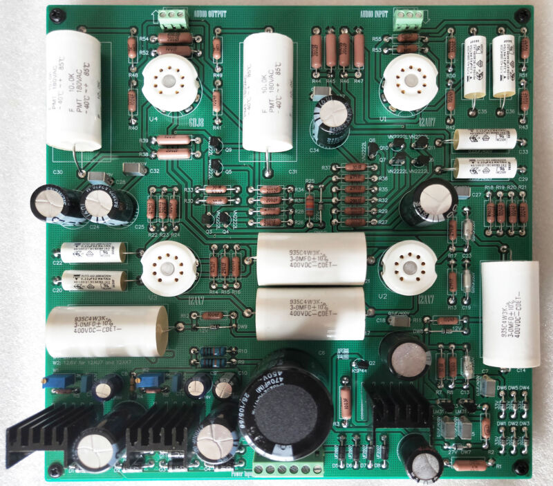 Finished Tube preamplifier board Refer CAT SL1 Circuit diagram
