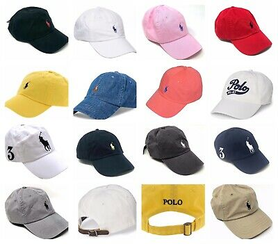 Ralph Lauren Polo Baseball Hat Men's Cap Classic or Big Pony Logo 100% Cotton ()