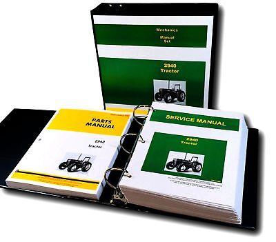 Service Parts Manual Set For John Deere 2940 Tractor Shop Book Catalog Repair