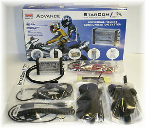 STARCOM1 ADVANCE B Motorcycle Intercom Communications headset optional Bluetooth