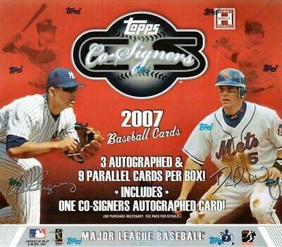 2007 Topps Co Signers Hobby (2007 Topps Co-Signers Baseball Hobby Box )