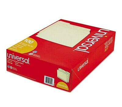 Universal 13 Assorted Cut Legal Size File Folders Top Tab Manila - 100 Ct.
