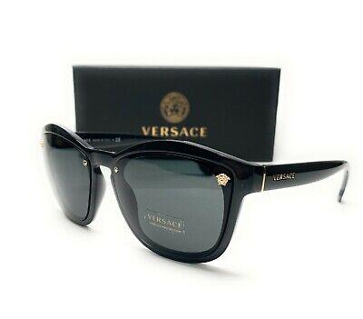 Versace VE4350 GB1 87 Black Grey Grad Lens Women Cat Eye Sunglasses 53mm