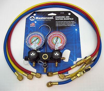 57336 Mastercool Ac Hvac Refrigeration Manifold W 36 Ball Hoses R410a R404a