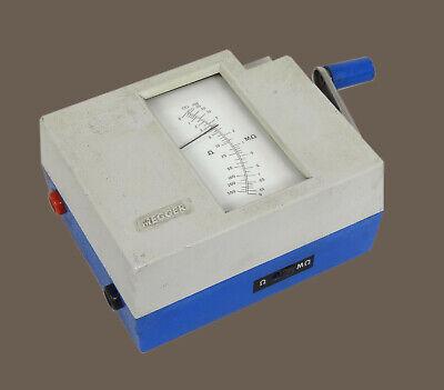 Vintage Biddle 21805 Megger Insulation Tester - Hand Crank Good Calibration