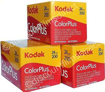 3 x KODAK COLORPLUS 200 35mm 24exp CHEAP COLOUR CAMERA FILM by 1st CLASS POST