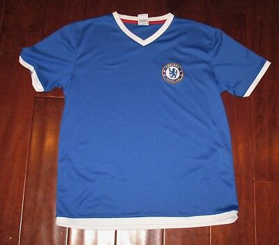 Chelsea Blue Football Club Jersey English Soccer Youth Boys Girls Size Large L