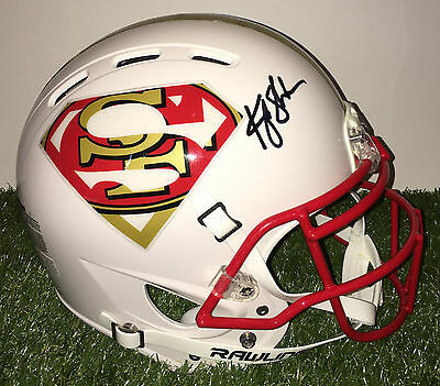 San Francisco 49Ers Kyle Shanahan Signed Autographed Superman Football Helmet
