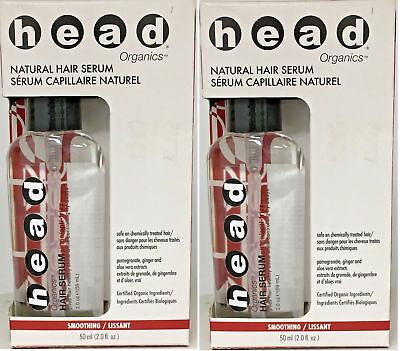 Head Organics Natural Hair Serum 2oz (2 PACK) NEW