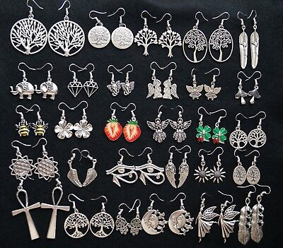 Dangle Drop Wicca Pagan Boho Chic Vintage Hippie Gypsy Summer Holiday Earrings