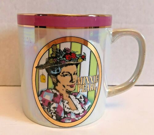 Minnie Pearl Mug | Souvenir Hee Haw Country Music | Porcelain Mug | Gold Rimmed