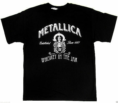 Metallica Whiskey In The Jar T Shirt Heavy Metal Tee Adult S 2Xl Black New
