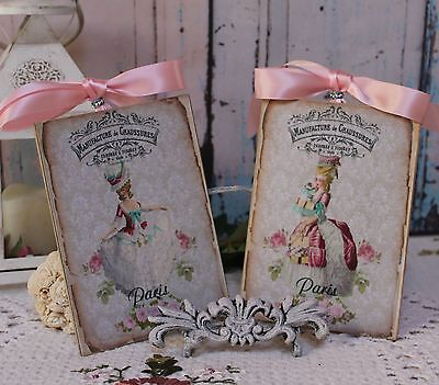 """A set of Two """"Marie..."""" Shabby Chic ~ Nation ~ Cottage style ~ Wall Decor Sign"""