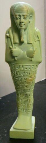 "Vintage MMA Light Green Shabti Ushabti Statue 7.5"" x 1.63"" x 2"" Excellent Cond"
