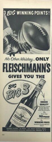 Fleischmanns Whiskey Magazine Print Ad Vintage Liquor Drink Blend 1951 Original