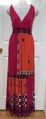 Cache Matte Jersey Halter Maxi Dress~10